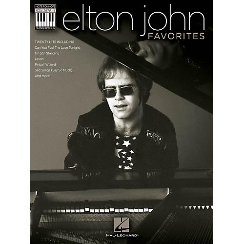 Hal Leonard Elton John Favorites Keyboard Book - Note-For-Note Keyboard Transcriptions-thumbnail