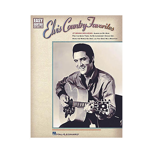 Hal Leonard Elvis Country Favorites Easy Guitar Book-thumbnail