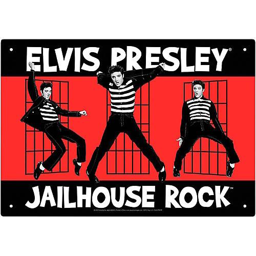 Hal Leonard Elvis Jailhouse Tin Sign-thumbnail