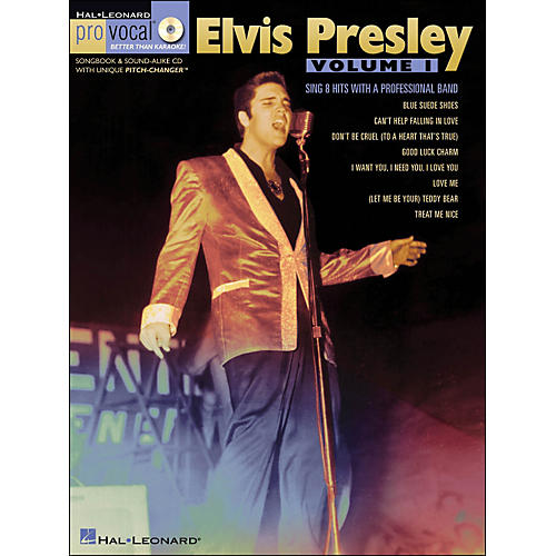 Hal Leonard Elvis Presley - Pro Vocal Songbook Men's Edition Volume 1 Book/CD-thumbnail
