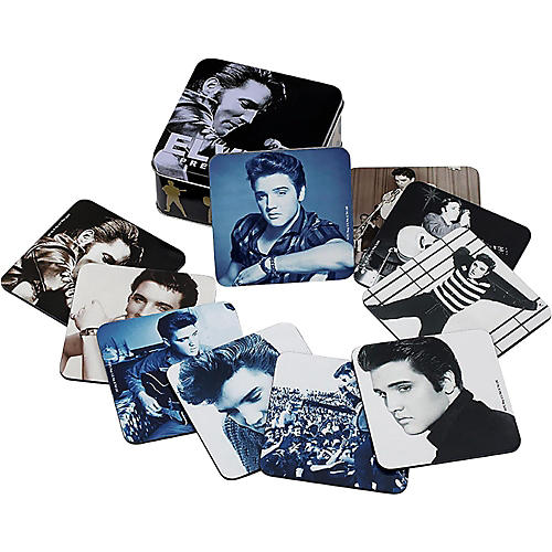 Vandor Elvis Presley 10pc. Coaster set w/ collector tin-thumbnail