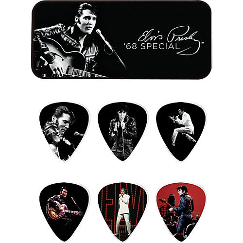 Dunlop Elvis Presley '68 Special Pick Tin with 6 Medium Picks-thumbnail