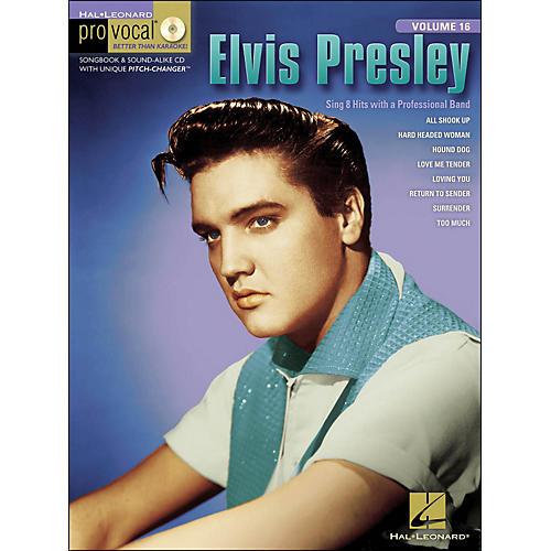 Hal Leonard Elvis Presley Pro Vocal Series for Men's Edition Songbook & CD Volume 16-thumbnail