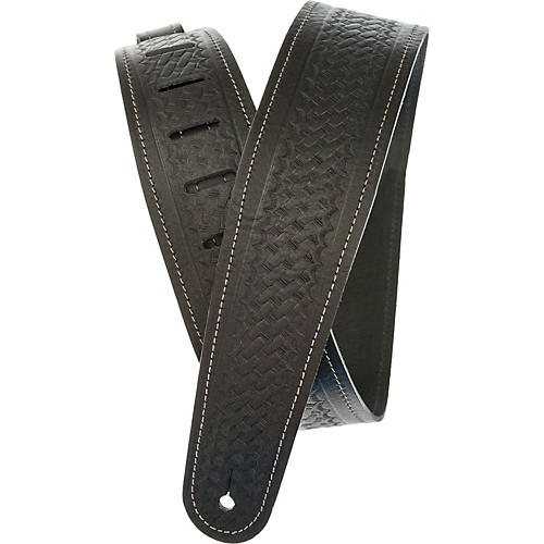 D'Addario Planet Waves Embossed Leather Guitar Strap