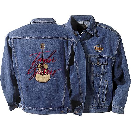 Taylor Embroidered Stonewashed Men's Denim Jacket