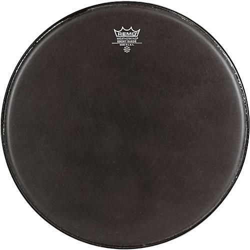 Remo Emperor Ebony Suede Marching Bass Drumhead Black Suede 20