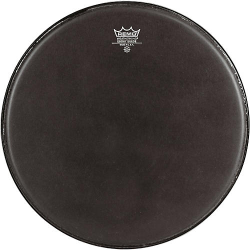Remo Emperor Ebony Suede Marching Bass Drumhead Black Suede 28