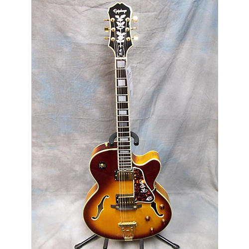 Epiphone Emperor II Joe Pass Signature 2 Tone Sunburst Hollow Body Electric Guitar-thumbnail