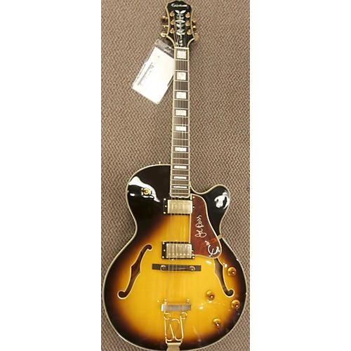 Epiphone Emperor II Joe Pass Signature Vintage Sunburst Hollow Body Electric Guitar-thumbnail