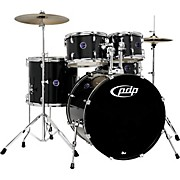Encore 5-Piece Drum Kit with Hardware and Cymbals Black