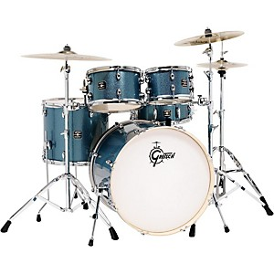 Gretsch Drums Energy 5-Piece Drum Set Blue Sparkle with Hardware and Zildji... by Gretsch Drums