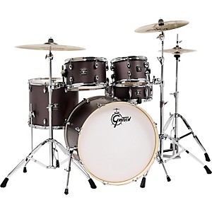 Gretsch Drums Energy 5-Piece Drum Set Brushed Grey with Hardware and Zildji... by Gretsch Drums