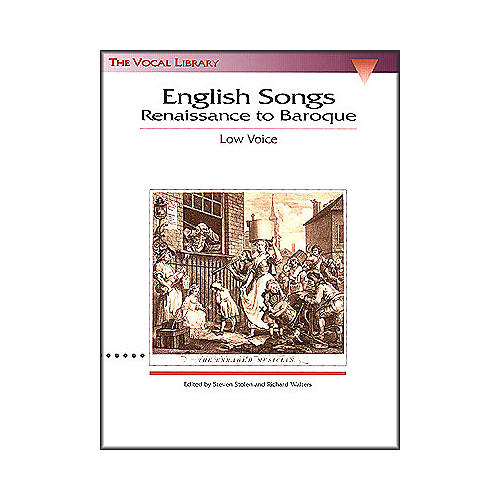 Hal Leonard English Songs - Renaissance To Baroque for Low Voice (The Vocal Library Series)-thumbnail