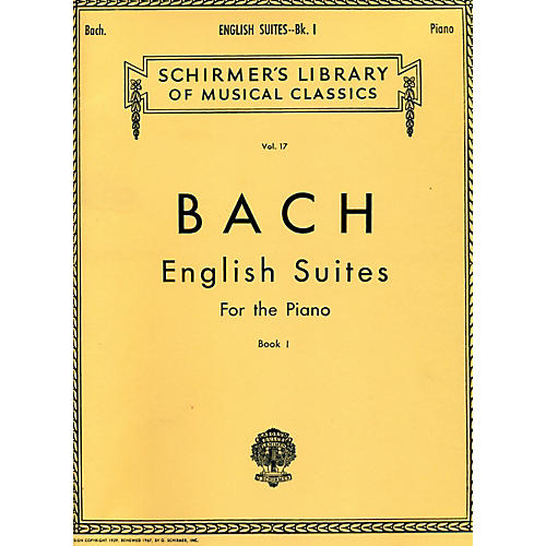 G. Schirmer English Suites for Piano Book 1 By Bach