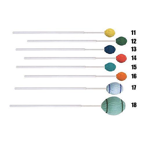 Mike Balter Ensemble Series Fiberglass Marimba Mallets 12 Green Yarn Medium Hard