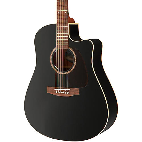 Seagull Entourage CW Black GT QIT Acoustic-Electric Guitar-thumbnail