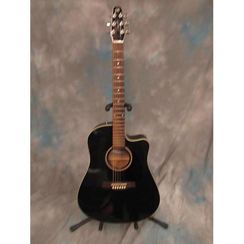 Seagull Entourage CW Black GT QIT Acoustic Electric Guitar