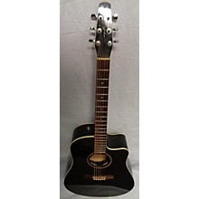 Seagull Entourage Cw Black Gt Qi Acoustic Electric Guitar