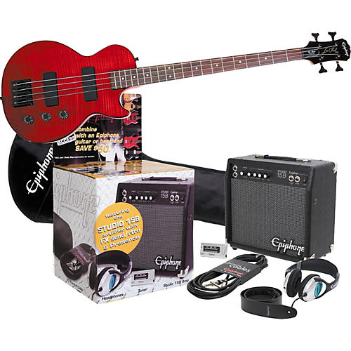 Epiphone Epiphone Limited Edition LP Special Flame Maple All Access Bass Guitar Pack