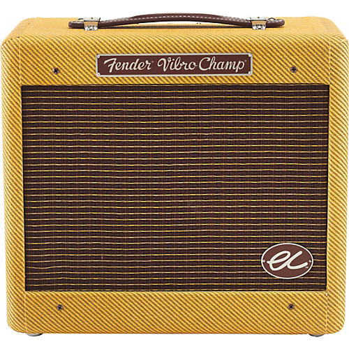 Fender Eric Clapton EC Signature Vibro-Champ  5W 1x8 Hand-Wired Tube Guitar Combo Amp Tweed