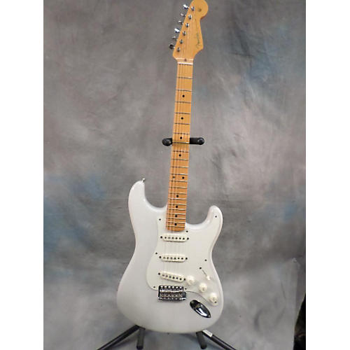 Fender Eric Johnson Signature Stratocaster Solid Body Electric Guitar Trans White