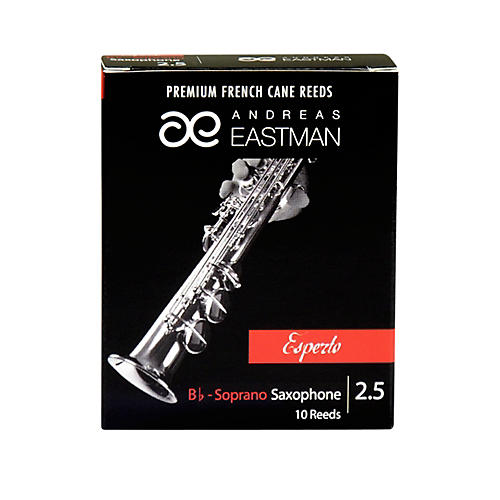 Andreas Eastman Esperto Soprano Saxophone Reeds Strength 2.5 Box of 10