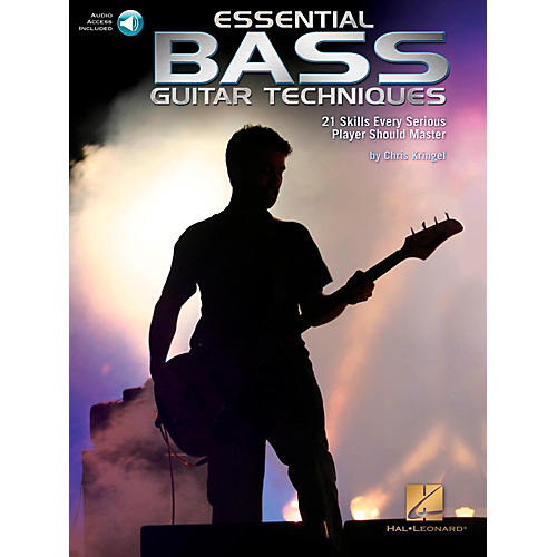 Hal Leonard Essential Bass Guitar Techniques - 21 Skills Every Serious Player Should Master Book/Online Audio
