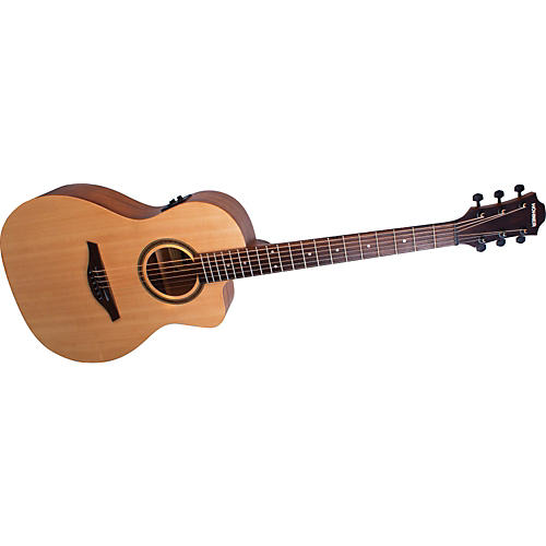 Hohner Essential EL-SPCE PLUS Parlor Cutaway Acoustic-Electric Guitar