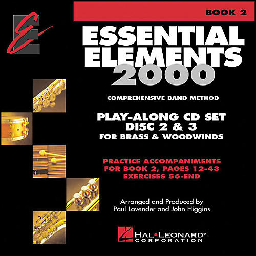 Hal Leonard Essential Elements Book 2 Play Along Trax 2 CD Set Discs 2 & 3 Brass & Woodwind