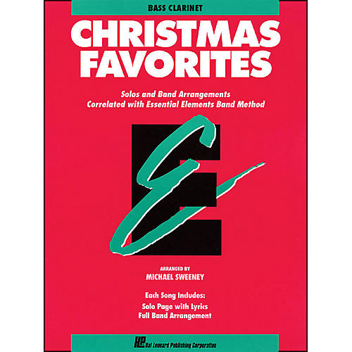 Hal Leonard Essential Elements Christmas Favorites B Flat Bass Clarinet