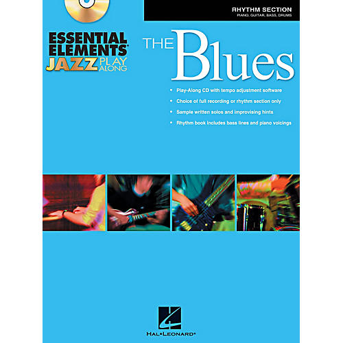 Hal Leonard Essential Elements Jazz Play-Along - The Blues (Rhythm Section) Book/CD-thumbnail