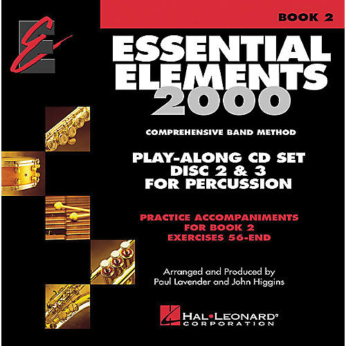 Hal Leonard Essential Elements Play Along CD Trax For Book 2 Percussion-thumbnail