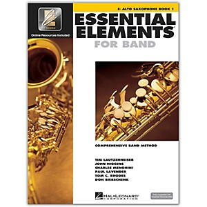Hal Leonard Essential Elements for Band - Eb Alto Saxophone Book 1 with EE...