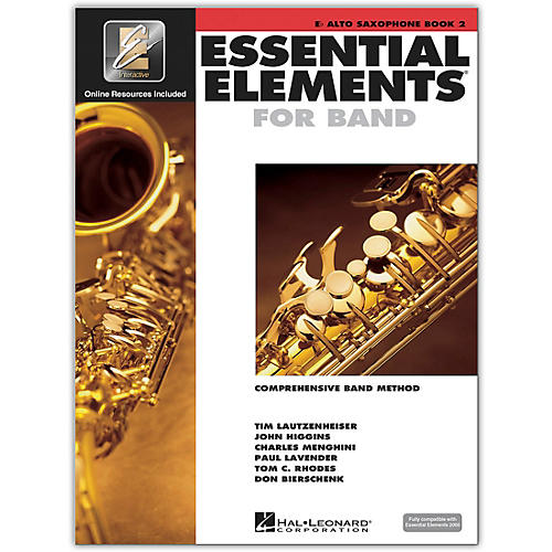 Hal Leonard Essential Elements for Band - Eb Alto Saxophone (Book 2 with EEi)-thumbnail