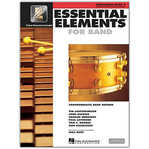 Hal Leonard Essential Elements for Band - Percussion and Keyboard Percussion (Book 2 with EEi)-thumbnail