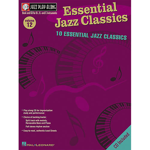 Hal Leonard Essential Jazz Classics - Jazz Play Along Volume 12 Book with CD