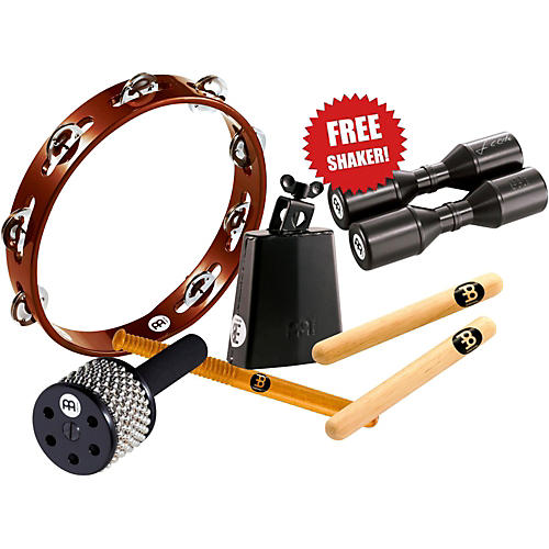 Meinl Essential Perc Pack with FREE Shaker for Cajon, Djembe, Bongos, and Congas