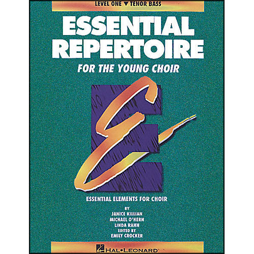 Hal Leonard Essential Repertoire for The Young Choir Level One (1) Tenor Bass/Student