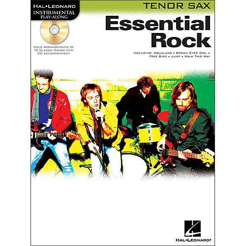 Hal Leonard Essential Rock for Tenor Sax Book/CD Instrumental Play-Along