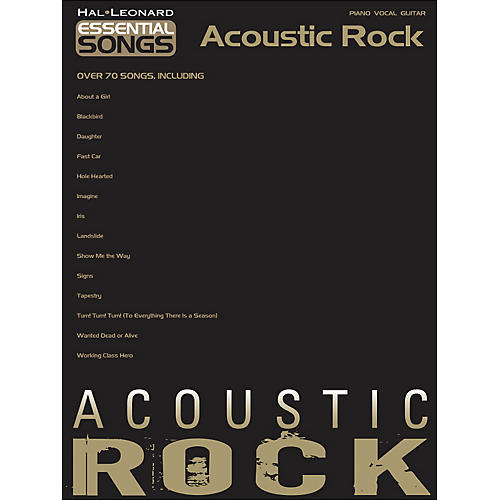 Hal Leonard Essential Songs - Acoustic Rock arranged for piano, vocal, and guitar (P/V/G)-thumbnail