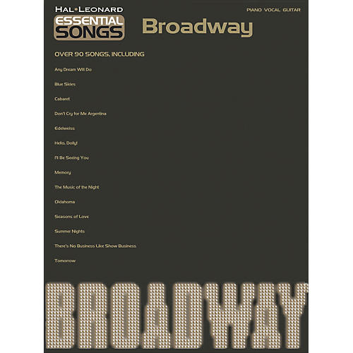 Hal Leonard Essential Songs - Broadway Piano/Vocal/Guitar Songbook-thumbnail
