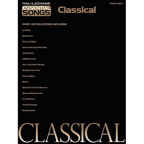 Hal Leonard Essential Songs - Classical arranged for piano solo-thumbnail