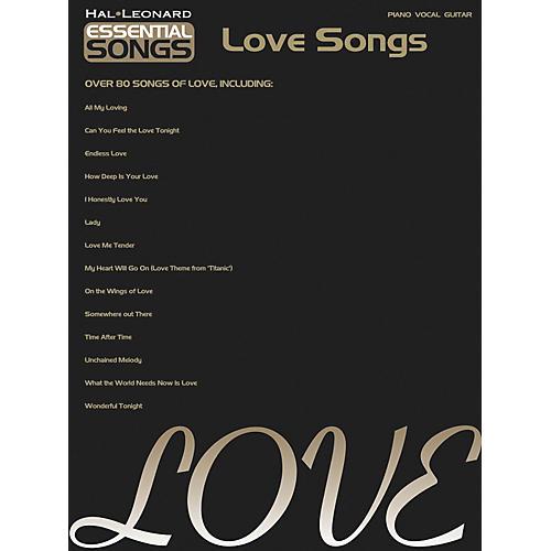 Hal Leonard Essential Songs - Love Songs Piano, Vocal, Guitar Songbook-thumbnail