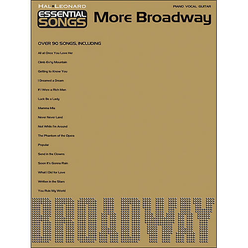 Hal Leonard Essential Songs - More Broadway arranged for piano, vocal, and guitar (P/V/G)-thumbnail