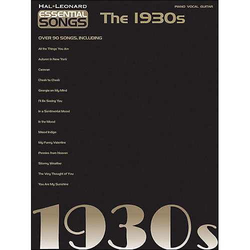 Hal Leonard Essential Songs - The 1930s arranged for piano, vocal, and guitar (P/V/G)-thumbnail