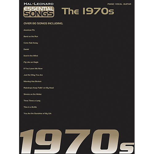 Hal Leonard Essential Songs - The 1970's Piano, Vocal, Guitar Songbook-thumbnail