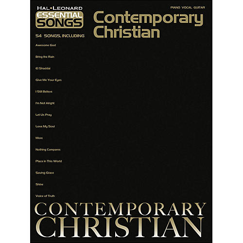 Hal Leonard Essential Songs Contemporary Christian arranged for piano, vocal, and guitar (P/V/G)
