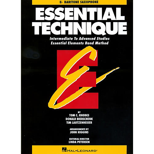 Hal Leonard Essential Technique For E Flat Baritone Saxophone - Intermediate To Advanced Studies