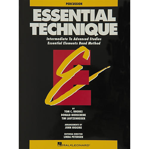 Hal Leonard Essential Technique Percussion Intermediate To Advanced Studies
