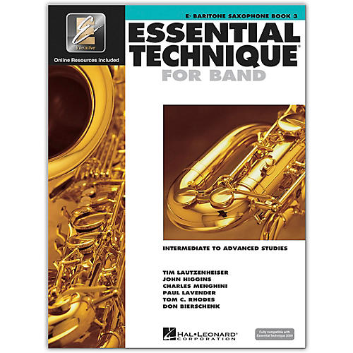 Hal Leonard Essential Technique for Band - Baritone Saxophone (Book 3 with EEi)-thumbnail